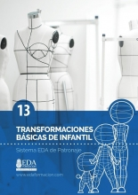 Libro Digital PDF Sistema EDA Patronaje Infantil 13: Transformaciones Básicas