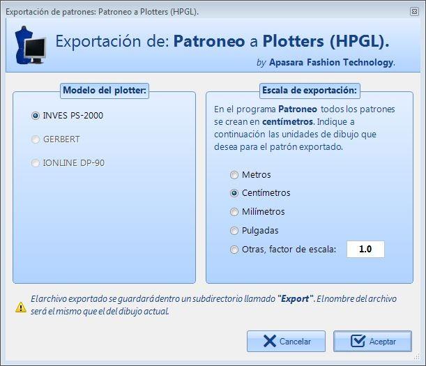 Software Módulo Conversor HPGL para plotters de impresión de Patroneo KEY
