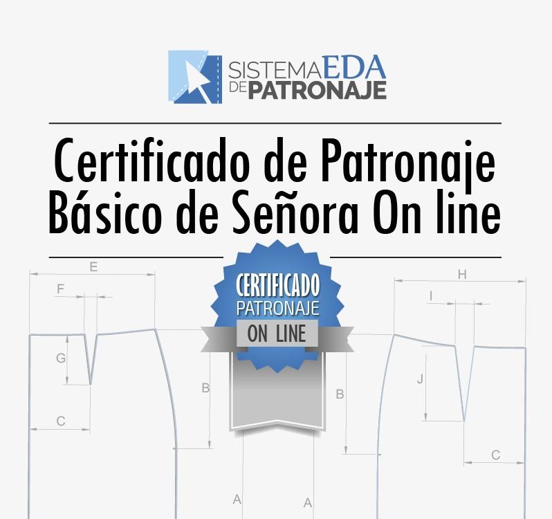 Certificado de Patronaje Básico de Señora On Line