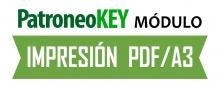 Software Módulo PDF de patrones en A3 de Patroneo KEY